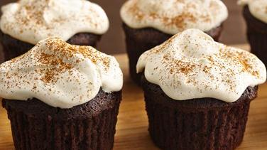 Chai Brownie Cupcakes with Creamy Froth