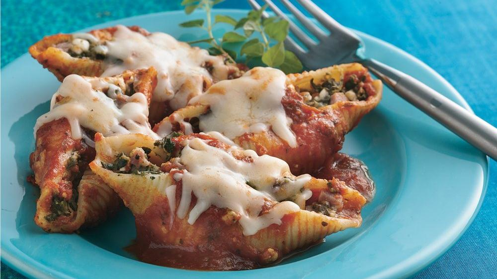 Prosciutto- and Spinach-Stuffed Shells