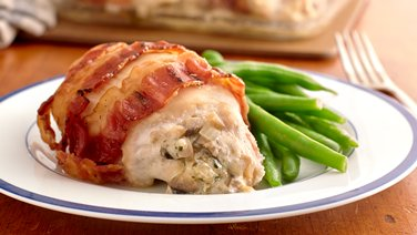 Cheese-Stuffed Bacon-Wrapped Chicken Breasts