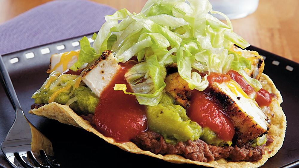 Sizzling Grilled Chicken Tostadas