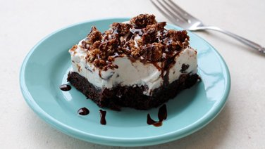 Brownie Ice Cream Crunch Bars