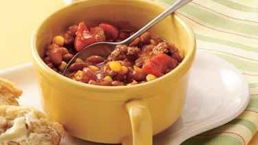 Beefy Bean and Corn Chili