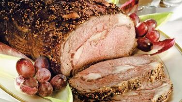 Pepper-Crusted Prime Rib with Zinfandel Sauce