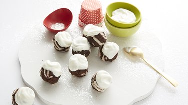 Peppermint Brownie Bites