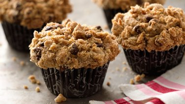 Banana-Chocolate Chip Streusel Muffins