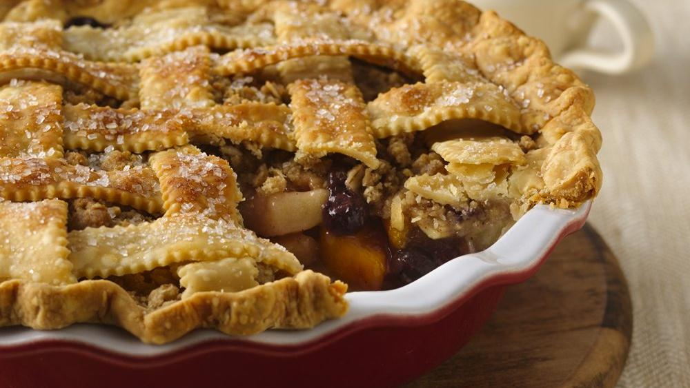 Blueberry-Apple-Peach Pie