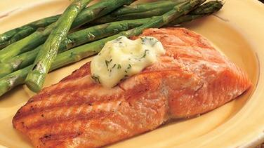 Grilled Salmon with Lemon-Dill Butter