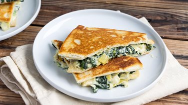 Spinach-Artichoke Grilled Cheese Sandwiches