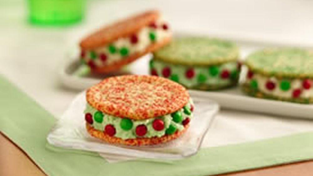 Holiday Ice Cream Sandwiches