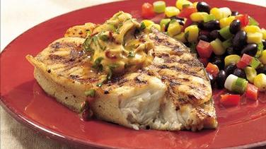 Halibut with Chipotle Butter
