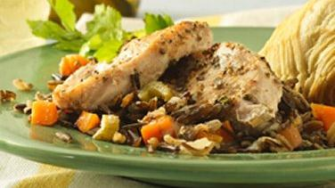 Tender Turkey and Wild Rice