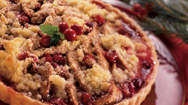 Streusel-Topped Cranberry-Pear Tart