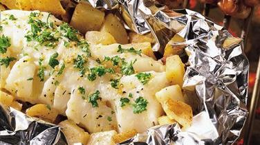 Parsley Cod and Potato Packets
