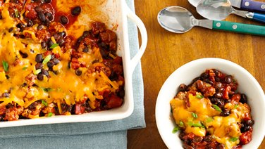 Easy BBQ Chili Bake