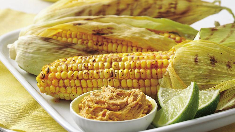 Grilled Corn with Chile-Lime Spread