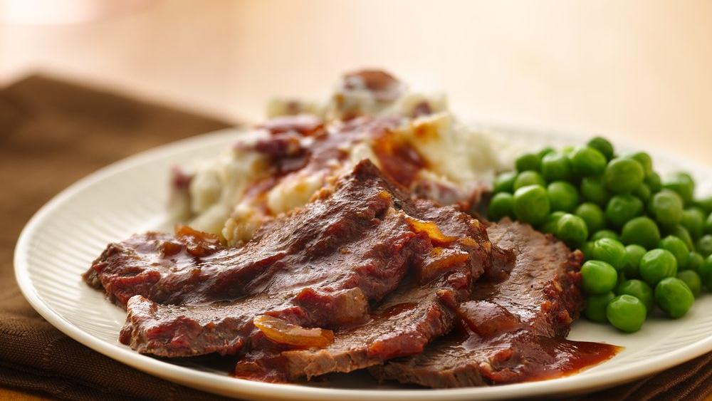 Slow-Cooker Sweet and Tangy Brisket