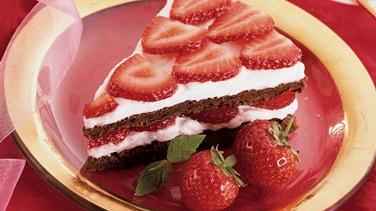 Strawberry Brownie Split