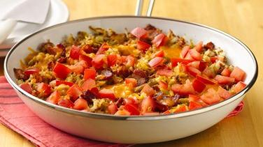 Bacon-Cheddar Breakfast Skillet