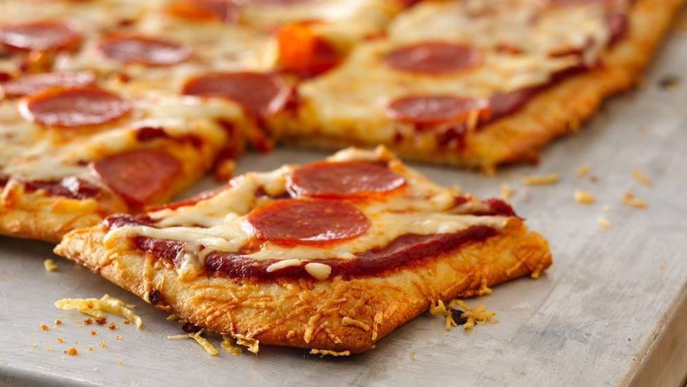 Parmesan Crusted Pepperoni Pizza
