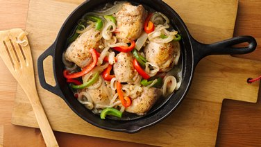 Savory Chicken with Peppers