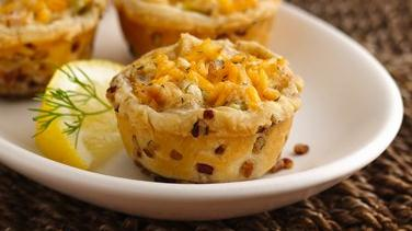 Salmon Pecan-Crusted Tartlets