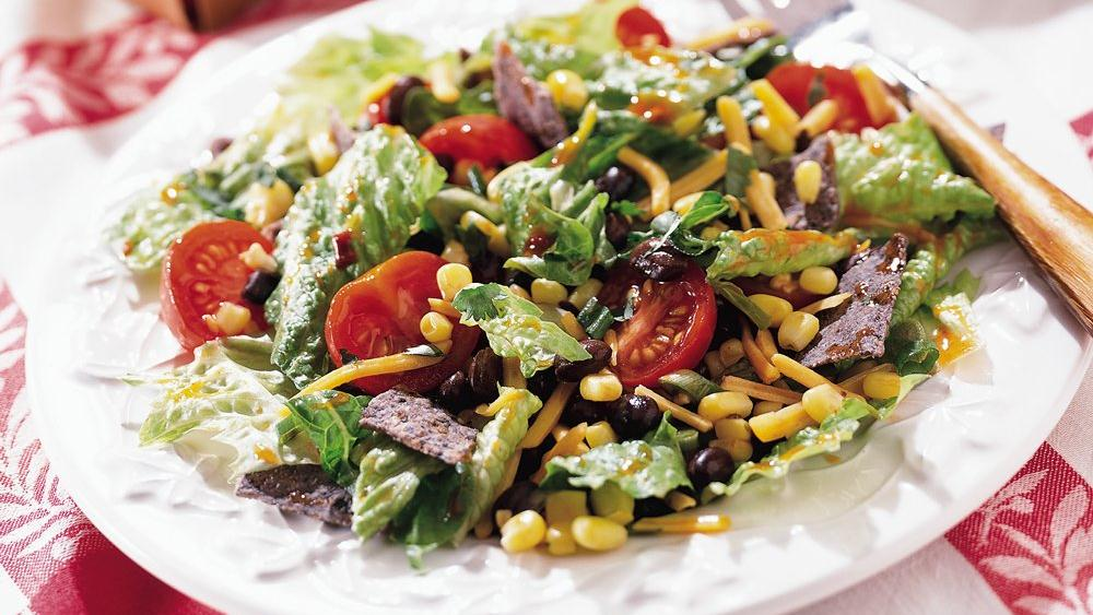 Spicy Black Bean and Corn Tossed Salad
