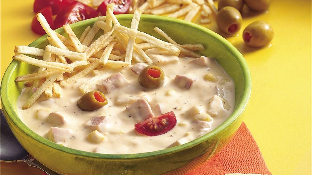 Funny Face-Topped Chowder