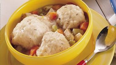 Chicken Stew with Lemon-Thyme Dumplings