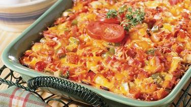 Ham and Veggie Strata