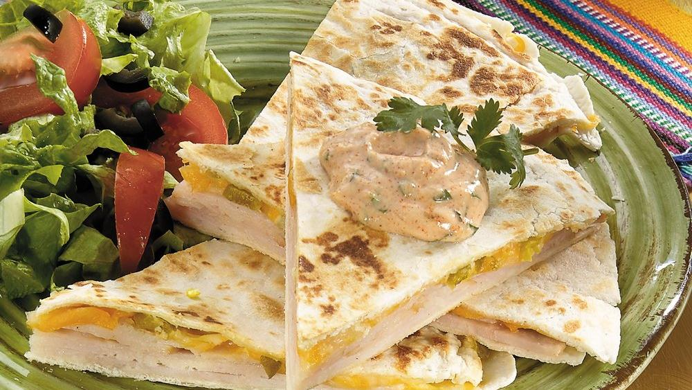 Turkey-Jalapeño Quesadillas