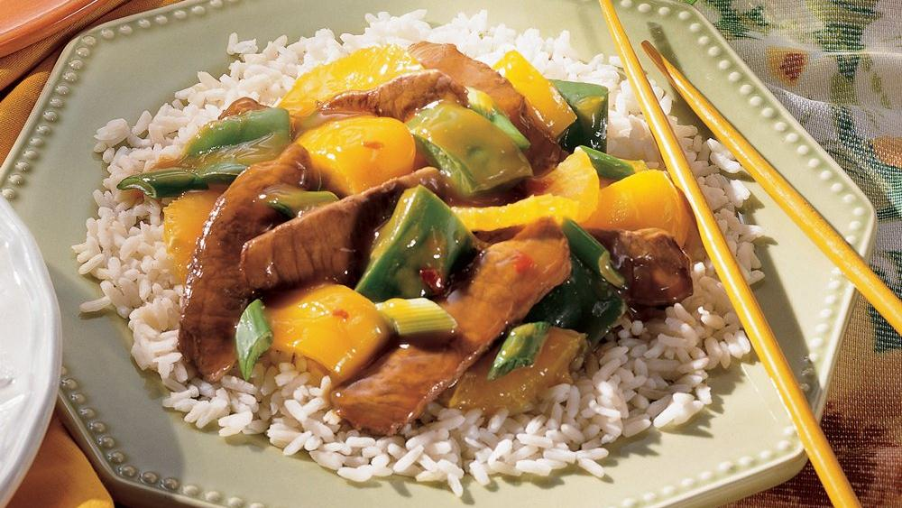 Orange Pepper Steak