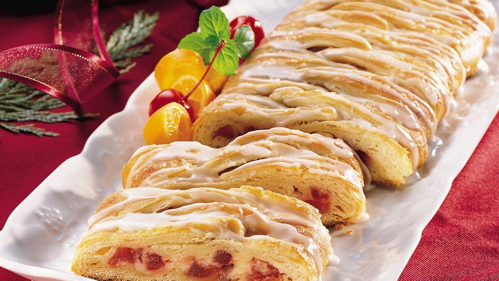 Cherry-Cheese Crescent Braid