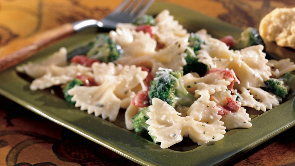 Bow Ties and Broccoli Alfredo