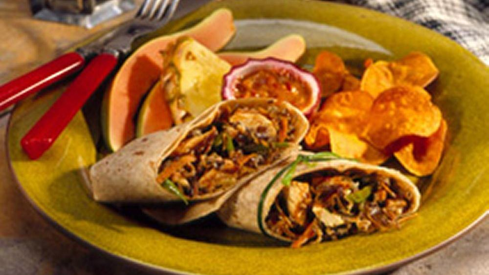 Hoisin-Cranberry-Turkey Wraps