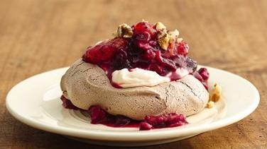 Cranberry-Orange Chocolate Meringues
