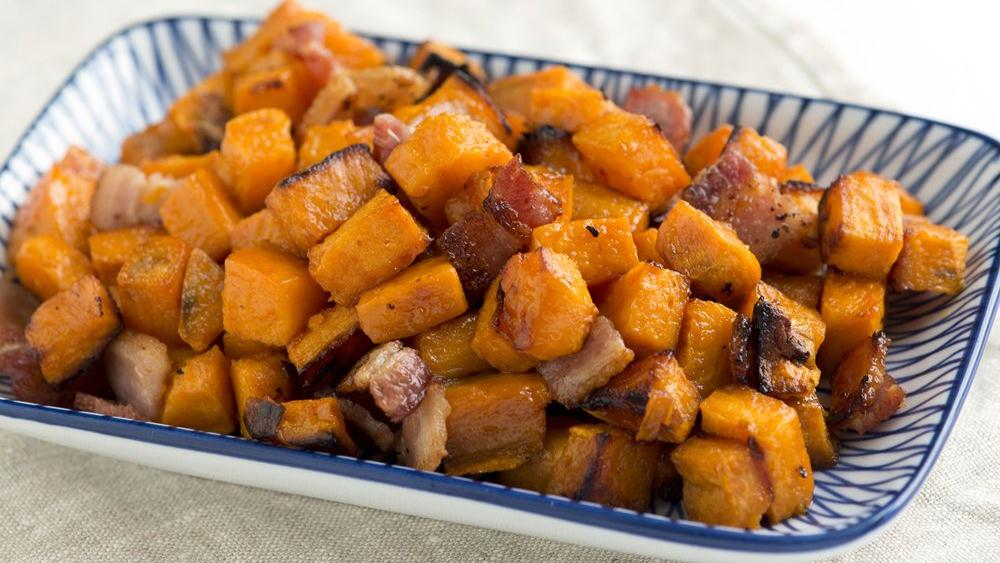 Bacon Roasted Sweet Potatoes