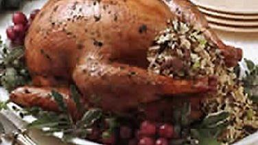 Stuffed Roasted Herb Turkey and Gravy
