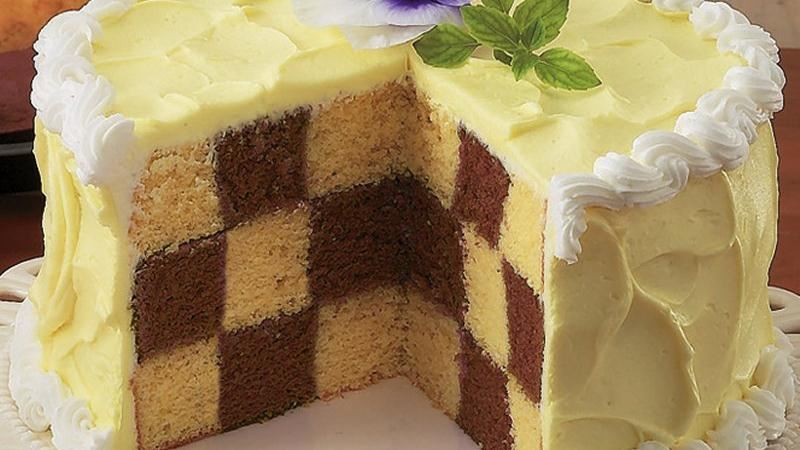 Chocolate Checkerboard Cake Free Recipe from Betty Crocker