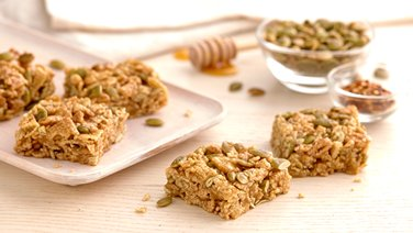 Gluten-Free Sweet Chili and Pepita Cereal Bars