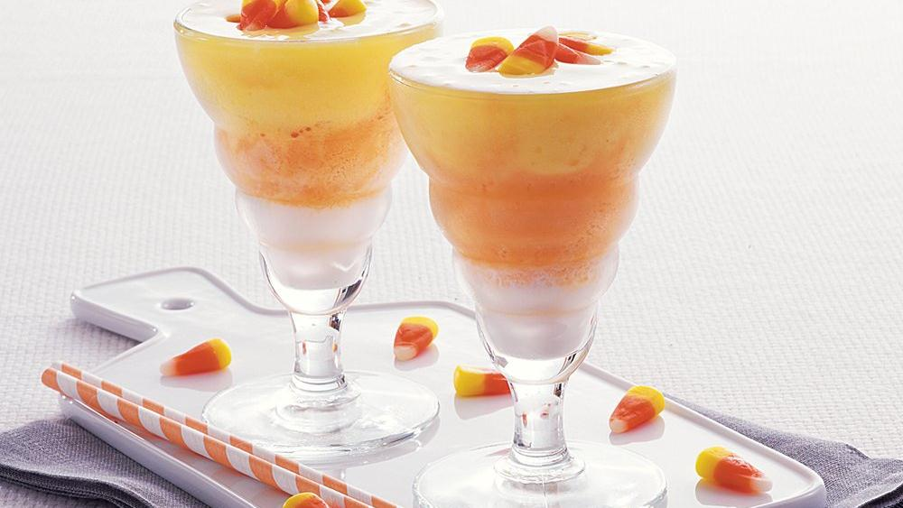 Candy Corn Smoothies