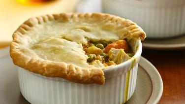 Turkey-Sweet Potato Pot Pies