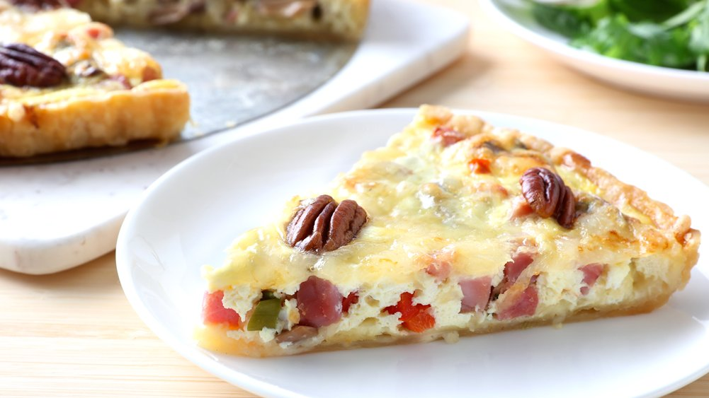 Wild Rice and Ham Country Tart
