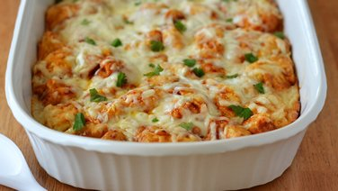 Barbecue Chicken Bubble-Up Bake