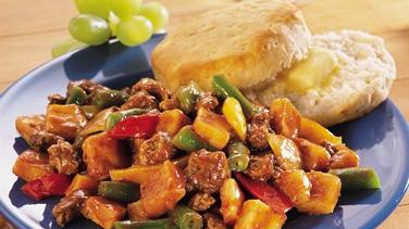 Barbecue Beef and Vegetable Skillet