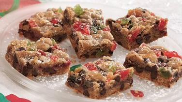 Chocolate Chip Fruitcake Bars