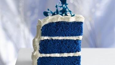Royal Blue Velvet Cake