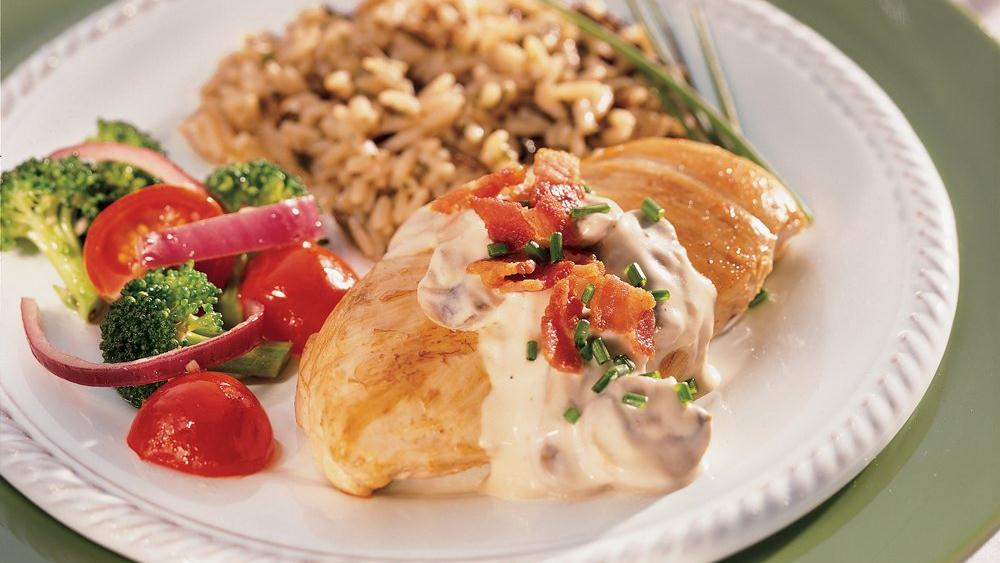 Chicken with Bacon and Mushrooms