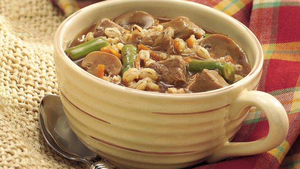 Slow-Cooker Hearty Beef and Barley Stew