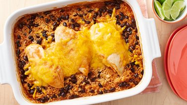 Cheesy Southwest Chicken and Rice Casserole